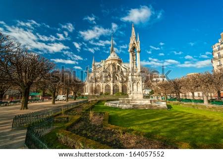 Cathedral of Notre dame de Paris, France. - stock photo