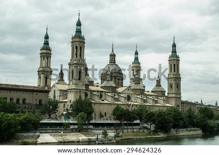 Cathedral of Our Lady of the Pillar - stock photo