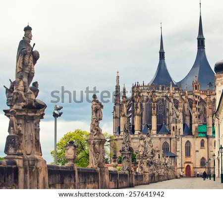 Cathedral of Saint Barbara in Kutna Hora, Czech republic  - stock photo