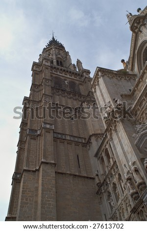 Cathedral of Saint Mary of Toledo (Primate Cathedral of Toledo) - stock photo