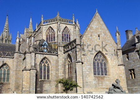 Cathedral of Saint Pol de Leon in Brittany, France