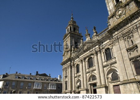 Cathedral of San Froil?n, Lugo. Galicia, Spain - stock photo