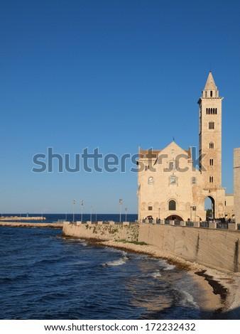Cathedral of San Nicola Pellegrino in Trani, Italy. - stock photo