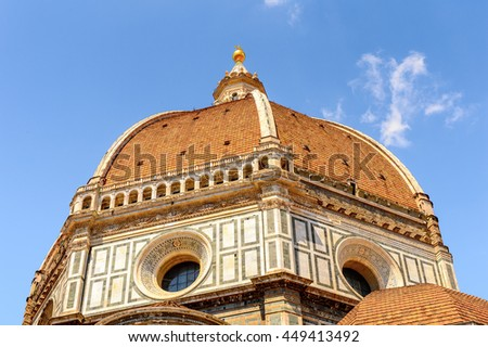 Cathedral of Santa Maria del Fiore in Tuscany, Florence, Italy.