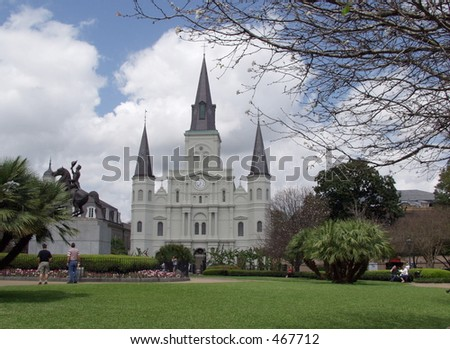Cathedral of St. Louis New Orleans - stock photo