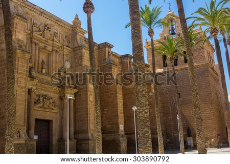 Cathedral of the Incarnation in Almeria Spain - stock photo