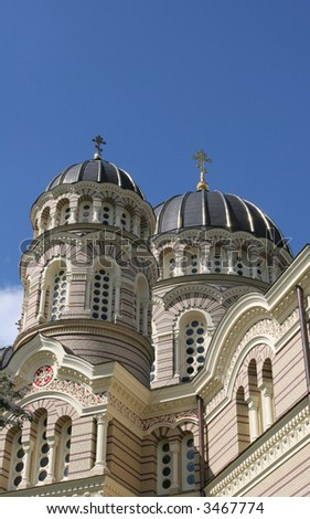 Cathedral of  the Russian ortHodox church (Riga, Latvia)
