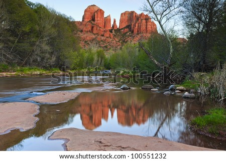 Cathedral Rock, Sedona, Arizona - stock photo
