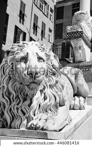 Cathedral San Lorenzo, Genoa, Italy - stock photo