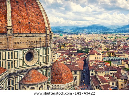 Cathedral Santa Maria del Fiore, Florence, Italy - stock photo