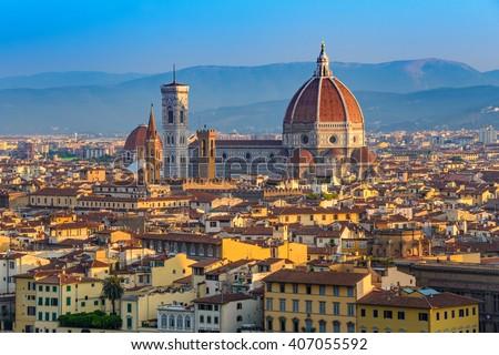Cathedral Santa Maria del Fiore, Florence, Italy - stock photo