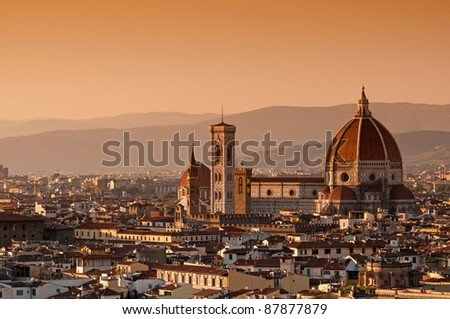 Cathedral Santa Maria del Fiore in Florence, Italy - stock photo