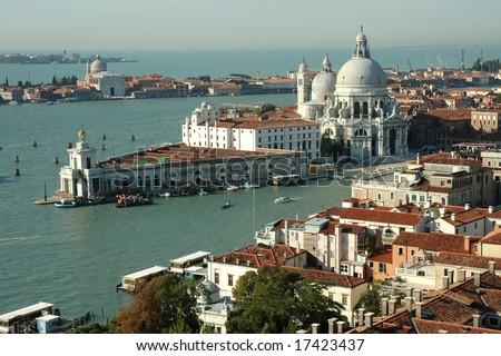 Cathedral Santa Maria della Salute in Venice (Italy) - stock photo