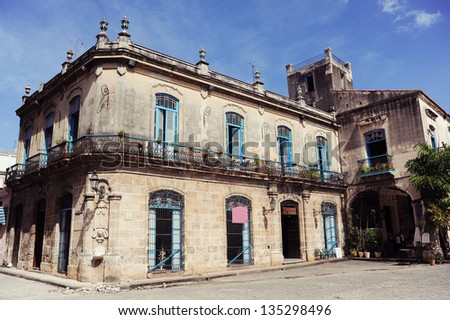 Cathedral Square in Old Havana - stock photo