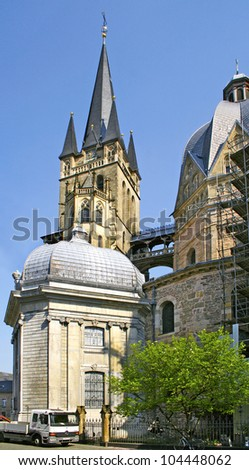 Cathedral tower - Aachen, Germany, World Heritage Site by UNESCO