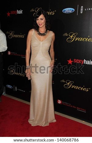 Catherine Bell at the 2013 Gracie Awards Gala, Beverly Hilton Hotel, Beverly Hills, CA 05-21-13