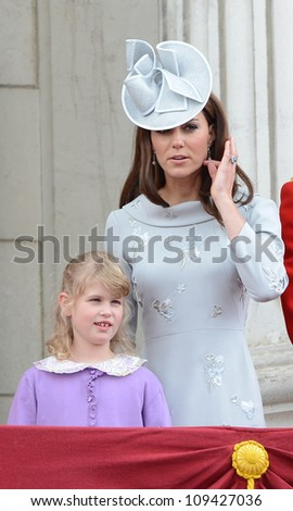 Catherine Duchess of Cambridge attends the Trooping Of The Colour at Horse Guards Parade, London, UK. June 16, 2012, Picture: Catchlight Media / Featureflash - stock photo