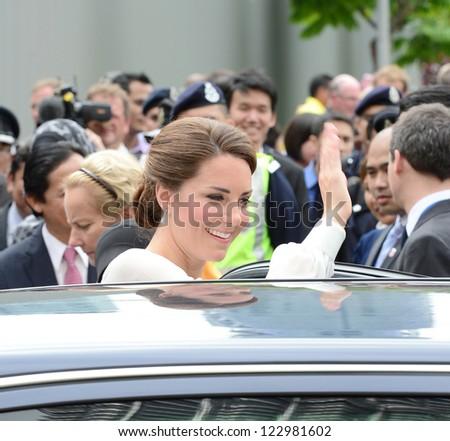 Catherine, Duchess of Cambridge  visits Kuala Lumpur Centre Park, Kuala Lumpur, Malaysia.  September 14, 2012. - stock photo