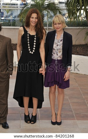 "Catherine Keener & Michelle Williams at photocall for ""Synecdoche, New York"" at the 61st Annual International Film Festival de Cannes.  5-23-08  Cannes, France. By: Paul Smith / Featureflash - stock photo"