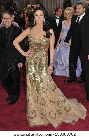 Catherine Zeta-Jones at the 85th Academy Awards at the Dolby Theatre, Hollywood. February 24, 2013  Los Angeles, CA Picture: Paul Smith - stock photo