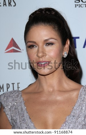"Catherine Zeta-Jones at the 6th Annual ""A Fine Romance"" Benefit Celebrating The Motion Picture & Television Fund's 90th Anniversary, Sony Studios, Culver City, CA 10-15-11 - stock photo"