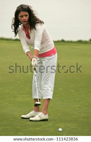 Catherine Zeta-Jones at The 9th Annual Michael Douglas and Friends Celebrity Golf Event. Trump National Golf Club, Rancho Palos Verdes, CA. 04-29-07 - stock photo