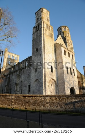 Catholic abbey in Normandy (France) - stock photo