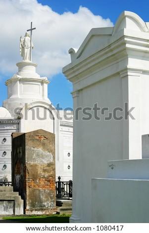 Catholic cemetary in New Orleans, Louisiana. - stock photo
