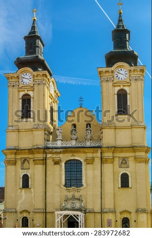 Catholic Church in the City of Szekesfehervar, Hungary - stock photo