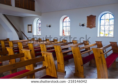 Catholic Church Interior - stock photo