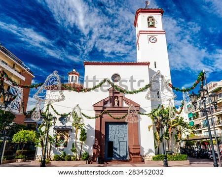 Catholic Church of Nuestra Senora del Rosario (Our Lady of the Rosary). Fuengirola, Malaga. Southern Spain - stock photo