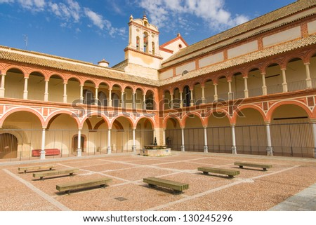 Catholic Churches, religious images, monuments, etc. can be found on every street corner in Cordoba - stock photo