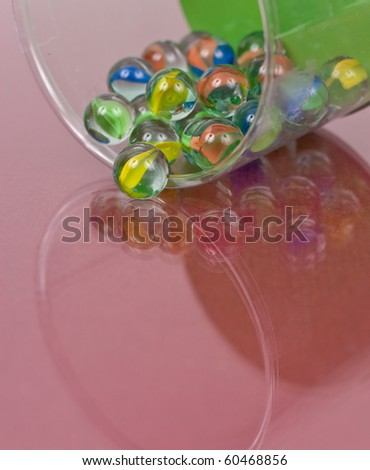 Cats Eye Marbles Toy Background - stock photo