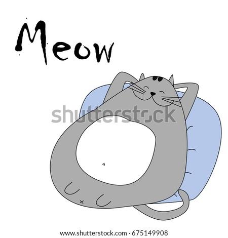 cats t shirt print cartoon characters cute cats hand drawn - Cartoon Characters To Print