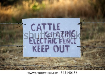Cattle Grazing Keep Out