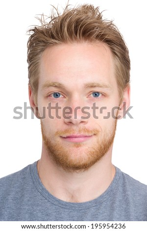 Caucasian man headshot