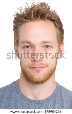 Caucasian man headshot - stock photo