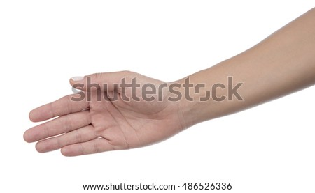 Caucasian Woman about to Shake Hand