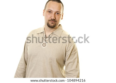 caucasian  young man  casual dressed - stock photo