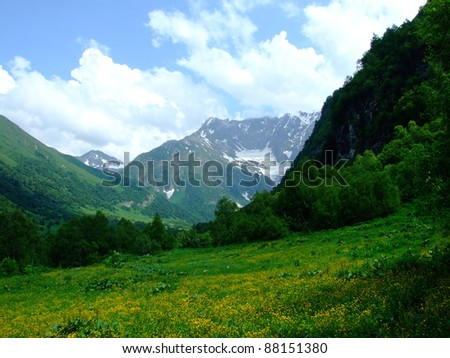Caucasus mountains