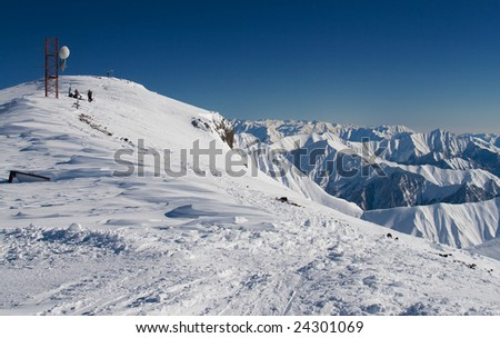 Caucasus Mountains in Northern Georgia - stock photo