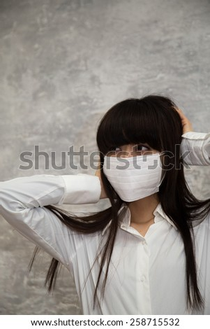caught a cold - stock photo