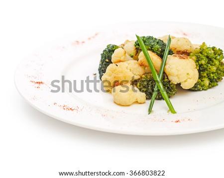 Cauliflower and broccoli - stock photo