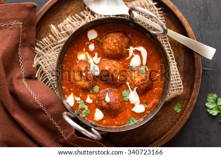 Cauliflower Paneer Kofta - stock photo