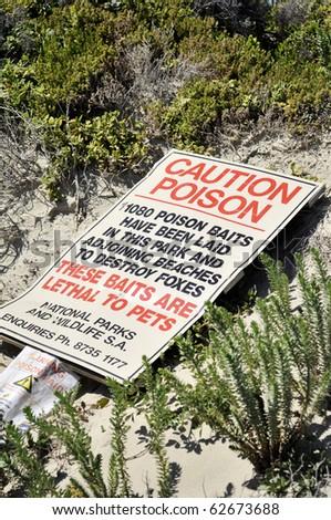 Caution Poison - stock photo