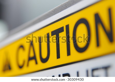 Caution sign - stock photo