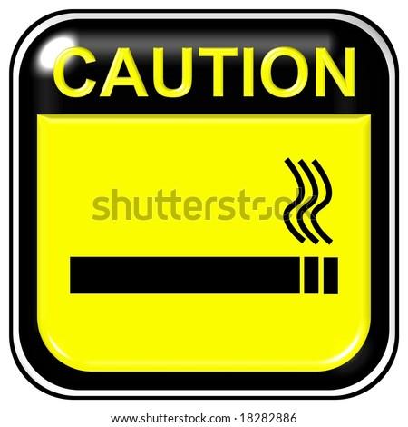 Caution sign - no smoking - stock photo