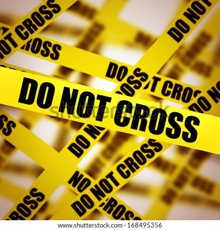Caution tape with DO NOT CROSS background. High resolution  - stock photo