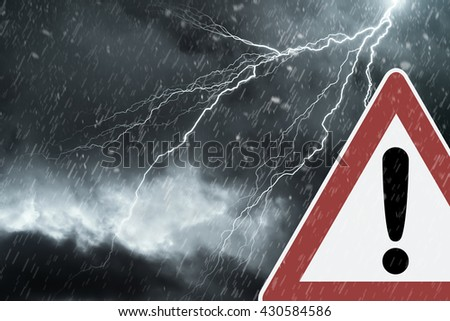 Caution - Thunderstorm  - stock photo