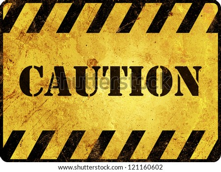 Caution Warning Sign - stock photo